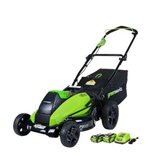 Greenworks 19-Inch 40V Brushless Cordless Lawn Mower, 4.0 AH &...