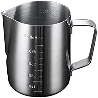 NuSense Milk Frothing Pitcher,Stainless Steel Froth Pouring Jug, Milk Frother Cup With Measurement Scales, for Tea,Coffee...