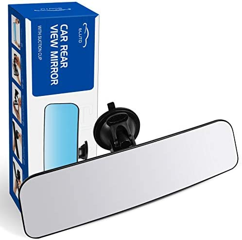 ELUTO Anti Glare Suction Cup Rear View Mirror Universal Interior Rearview Mirror Wide Angle product image