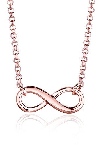 Elli Halskette Damen Infinity Symbol Unendlichkeit in 925 Sterling Silber