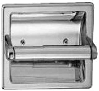 Taymor 01-1864S Diamondback Series Recessed Toilet Paper Holder with Plastic Chrome Plated Roller, Polished Chrome