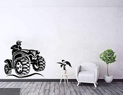 wopiaol Etiqueta de la Pared Estilo ATV Motocicleta Bicicleta Deporte Niños Adolescentes Chicos Niños Dormitorio Decoración de la Pared Garaje Tatuajes de Pared Fondos de Pantalla L