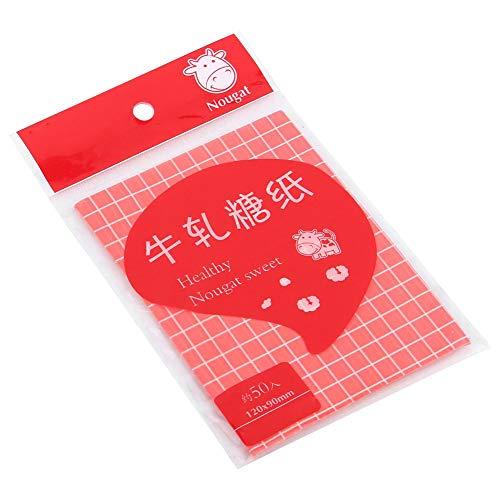Voedselverpakkingsverpakking, bakken van snoepverpakkingspapier 500 stks keuken DIY voedselverpakking inpakpapier Dessert inpakpapier(Rood)