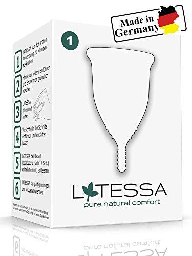 LATESSA menstruatiecup | BPA-vrij | Geurloos | Medische siliconen | Maat 1 | Made in Germany