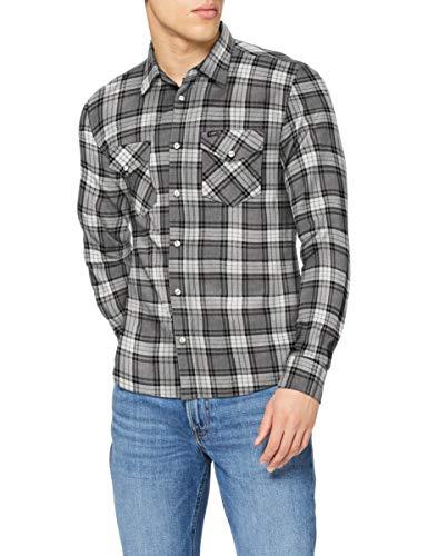 Lee Clean Western Shirt Camisa, Grey Mele, M para Hombre