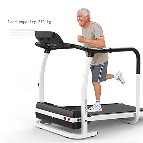 Nfudishpu Electric Treadmill Home Multi-Function Middle and Old Aged Safety Handrail 3 File Walking Machine Plegable Pequeña Instalación Gratuita Silencioso Baja Velocidad