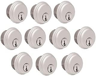 10-Pack (Same Keys) Mortise Lock Cylinders, Adams Rite Cam for Storefront Doors in Aluminum