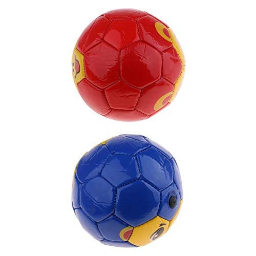 MagiDeal 2 Piezas de Pelota de Fútbol de PVC Ligera, Bonito Juguete de Entrenamiento de Fútbol para Niños Pequeños