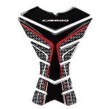 Moda 3D Accesorios de Motocicleta Tanque Pad Protector Etiquetas engomadas de la Motocicleta Cubierta de la Caja de la calcomanía para Honda CB500 F X CB500F CB500X (Color : A)