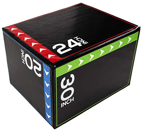"""BalanceFrom 3 in 1 20"""" 24"""" 30"""" Foam Plyometric Box Jumping Exercise (Regular, 16 Pounds)"""