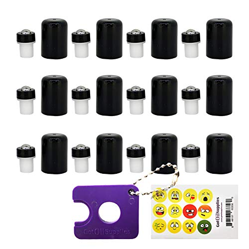 Roller Balls for Essential Oils The Perfect Essential Oil Accessories Fitments to Turn your 5 ml and 15 ml EO Bottles into Roller Bottles 12 Pack by Got Oil Supplies