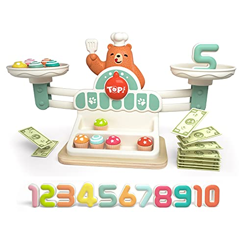TOP BRIGHT Balance Math Game STEM Toys for Kids Balance Counting Toys for Girls Boys Gift Preschool Educational Toys…