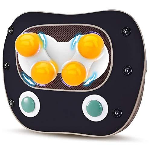 YEXINTMF Cervical masajeador eléctrico amasadora Pierna de atrás del Hombro del Cuerpo Entero Inicio multifunción cálido colchón (Color : Black)