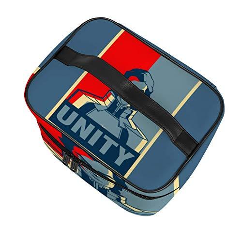 Legend of Korra Kuvira Unity Bella borsa multifunzionale per il trucco da viaggio cosmetica borsa per il trucco portatile borsa per il trucco delle ragazze