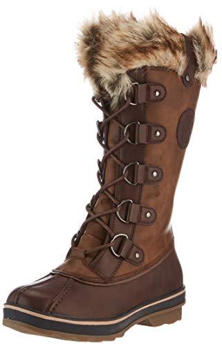 KIMBERFEEL Beverly, Zapatos para Nieve Mujer, marrón, 39 EU
