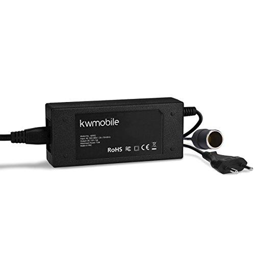 kwmobile Spannungswandler 240V auf 12V - Zigarettenanzünder Netzadapter Netzgleichrichter bis max. 72W - Auto Steckdosen Adapter für z. B. Kühlbox