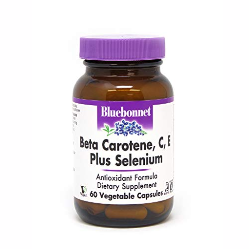 BlueBonnet Beta Carotene C and E Plus Selenium Vegetarian Capsules, 60 Count