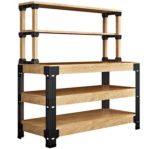 FLEXIMOUNTS Universal Steel Work Bench Leg Kit, Garage Storage Shelving Frame, Customizable in Sizes and Colors, Maximum 96