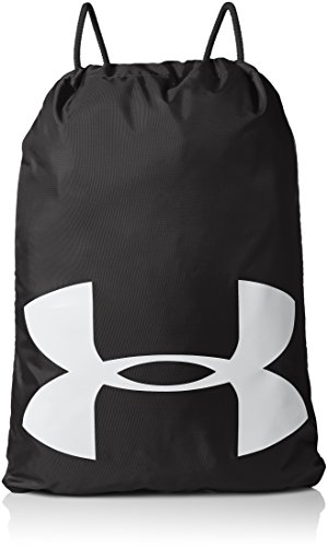 Under Armour unisex-adult Ozsee Elevated Reflective Sackpack , Black (001)/Reflective ,One Size Fits All