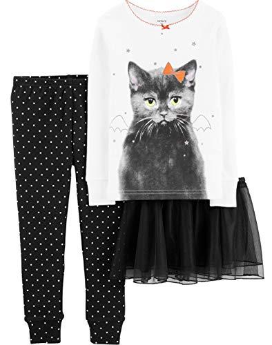 Carter's Girls' 3-Piece Halloween Tutu Cat Snug Fit Cotton PJs