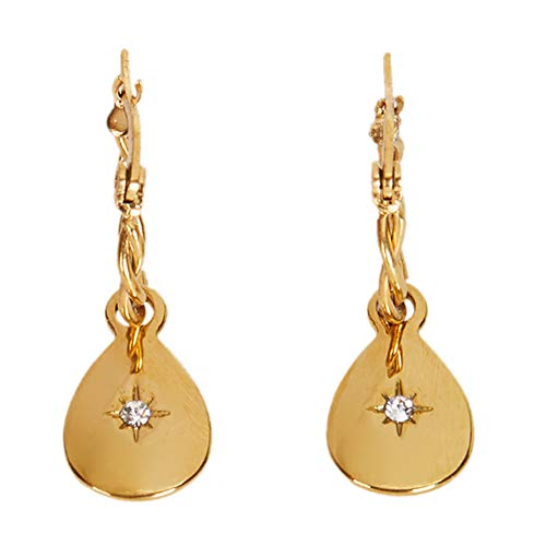 Parfois - Pendiente Stainless Steel Golden - Mujeres