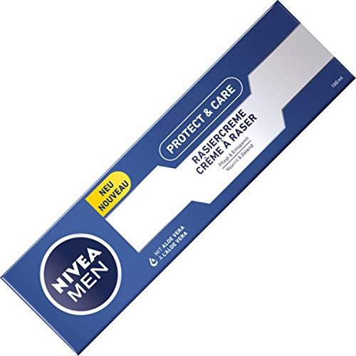 6er Pack - Nivea Rasiercreme - Protect & Care - normale bis trockene Haut - 100 ml
