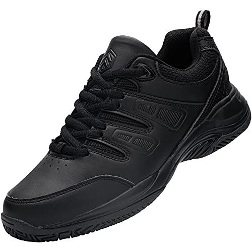URDAR Baskets Homme Femme Fitness Sport Sneakers Respirante Style Noir Blanc Chaussures de Sport (Noir,40 EU)