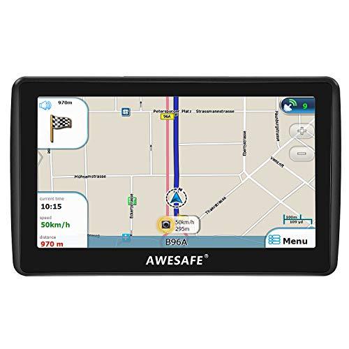 AWESAFE Navigationsgeräte für Auto 7 Zoll Navigation mit Bluetooth, GPS Navi 2020 Europa Karten, Lebenslang kostenlos Kartenupdate