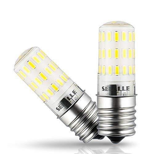 E17LED Leuchtmittel dimmbar seealle 4W Tageslicht Weiß 5000K 40W Halogen Mikrowelle Leuchtmittel ersetzt E17Zwischenplatte AC110–130V (2Stück)