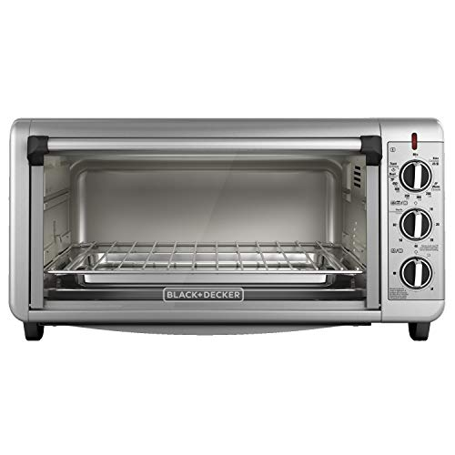 BLACK+DECKER Extra Wide Toaster Oven, 8 Slice, Stainless Steel, TO3260XSBD