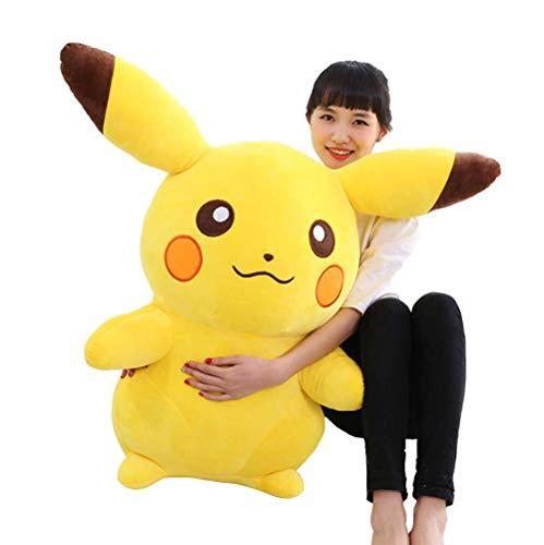 LCCYJ Pikachu Plüsch Spielzeug Stofftier Kuschelig Weiches Kissen Geburtstag (35cm-90cm),Yellow,70cm