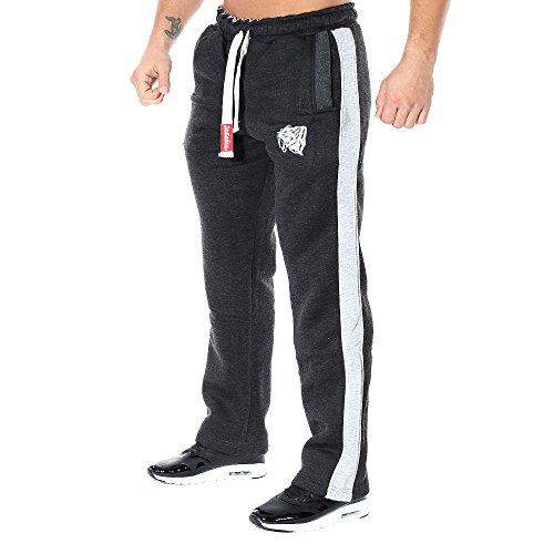 SMILODOX Herren Jogginghose 'Coovveer' | Trainingshose für Sport Fitness Gym Training & Freizeit | Sporthose - Jogger Pants - Sweatpants Hosen - Freizeithose Lang, Farbe:Anthrazit/Grau, Größe:S