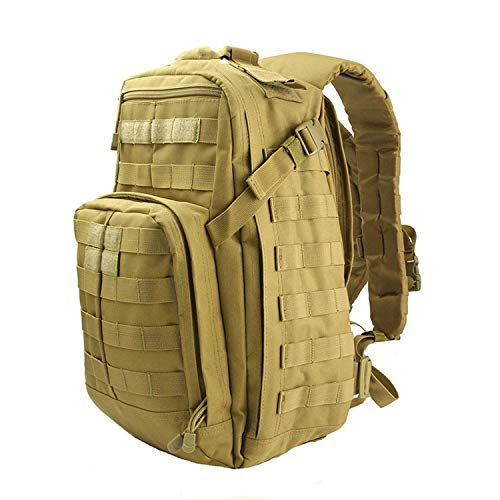 OASIS LAND Climbing Backpack Bag 24L Nylon Outdoor Sports Bags Travel Camping Hiking Backpack-Tan-OneSize
