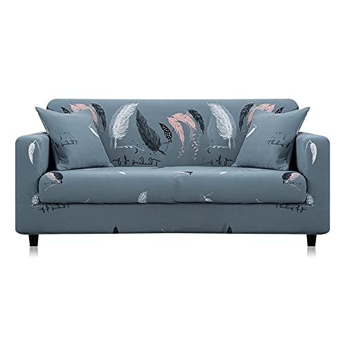 MKQB Elastischer Stretch-Sofabezug für Wohnzimmer, L-förmiger Eck-Kombinationssofabezug, Rutschfester Haustierschutz-Sofabezug NO.10 S (90-140cm)