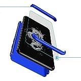 XJZ Compatible para Samsung Galaxy J7 Prime/On Nxt Funda(2017)+3D Vidrio Templado Protector de Pantalla/Caja Ultra Fina Silicona Caso Bumper 360° Protectora Cojín Carcasa para Galaxy J7 Prime-Azul