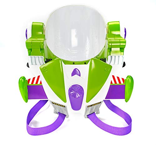 Mattel Disney Pixar Toy Story 4 Buzz Lightyear Toy Astronaut Helmet for Role-Play Movie Action with Jetpack, Lights, Authentic Phrases and Sounds [Amazon Exclusive]