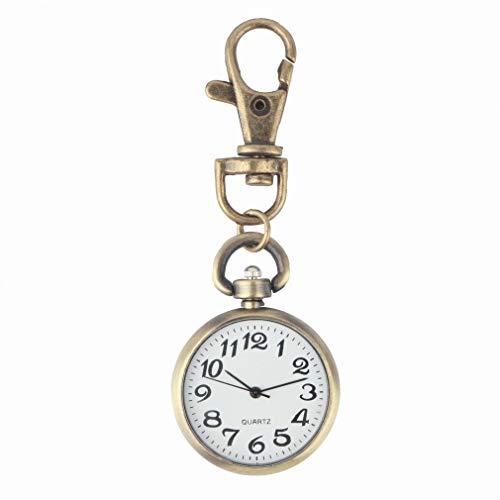 Clong01 Moda Esfera de un Reloj de Bolsillo de Cuarzo 1pcs Fob con el Collar de Regalo for Las Mujeres de los Hombres Llavero Reloj de Bolsillo Reloj Redondo para los Relojes de Bolsillo Nurse Doctor