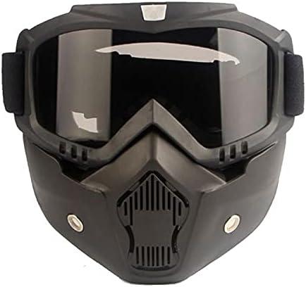 Unisex invierno nieve máscara de esquí gafas deportes al aire libre anti-niebla anti-niebla a prueba de viento máscara de snowboard snowboard segura protectora motocross esquiando gafas ( Color : 02 )