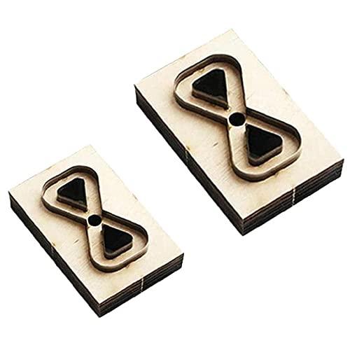 Ohomr Bricolaje de Madera Die Mold 2 Piezas de Cuero del sacador del Ajuste de la fabricación de moldes de Herramientas para la Pendiente de la joyería