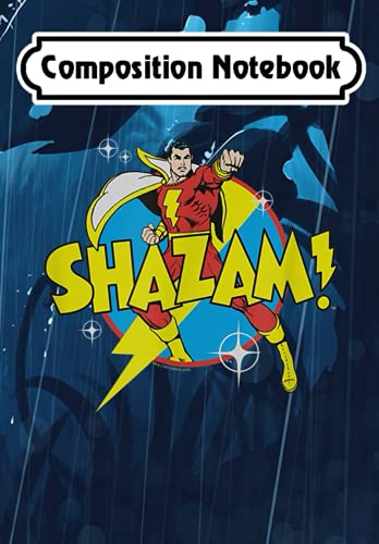 Composition Notebook: Shazam! Power Bolt, Journal 6 x 9, 100 Page Blank Lined Paperback Journal/Notebook
