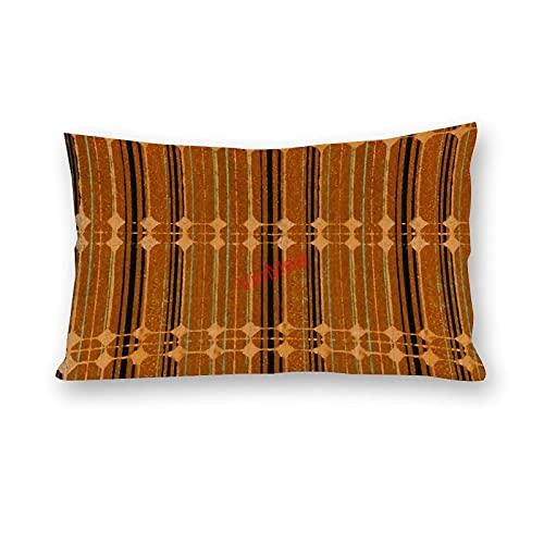 VinMea Fundas de almohada Lumbar con un patrón especial 96 fundas de almohada de algodón para sofá, hogar, oficina, decoración de 50 x 60 cm