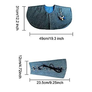 Protection d'épaule pour perroquet - Anti-rayures - Protection de bras en tissu denim - Protection de bras épaisse pour perroquet