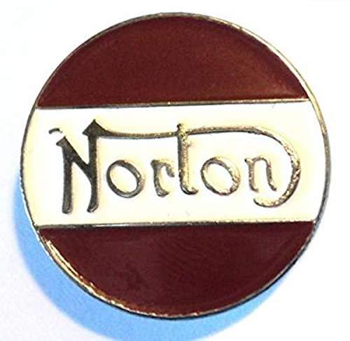 Matfords Norton Anstecknadel aus Metall, Biker-Abzeichen, anlaufgeschützt, handgefertigt, emailliert, 22 mm Durchmesser
