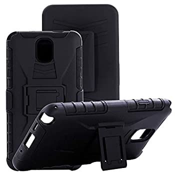 Cocomii Vertex Belt Clip Holster Galaxy Note 3 Case Slim Thin Matte Kickstand Swivel Belt Clip Holster Reinforced Drop Protection Fashion Bumper Cover Compatible with Samsung Galaxy Note 3  Black
