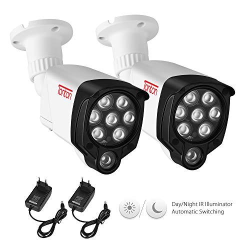 Tonton 8 LED Infrarot-Nachtsicht IR-Licht Beleuchtungslampe 30M (100ft) für Überwachungskamera wasserdichte Steckdose Videoüberwachung Zusatzlicht mit 3M DC Netzteil für Innen-und Außenbereich 2Pack