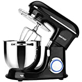 Stand Mixers BONSO Kitchen Electric Stand Mixer With 7.4Qt Bowl, 660W 6 Speeds Dough Standing Mixer,...