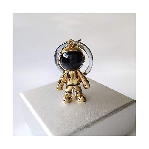 Entre el Llavero de los EE.UU Hecha a Mano 3D Astronauta Espacio Robot Spaceman Llavero Llavero Llavero Regalo para Hombre Amigo (Color : Gold)