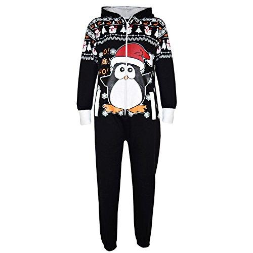 A2Z 4 Kids meisjes jongens nieuwheid Kerstmis Pinguïn sneeuwman rendier opdruk strampelpak alle in een overall 2-13 jaar