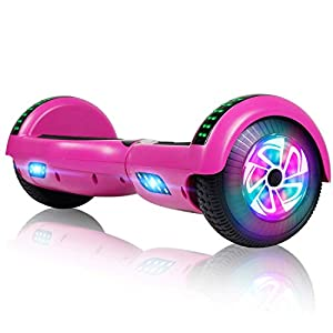 FLYING-ANT Hover Board UL2272 Certified Bluetooth Connect Stereo Bluetooth Speakers Easy Stay Balance Scooter Two-Wheel Electric Hoverboard (Black)