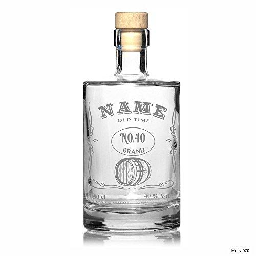 Edle Whisky Karaffe/Whisky Flasche 'Aventura' inkl. persönlicher Gravur - wahlweise mit bis zu 6 Gläser - Motiv 070, Zusätzliche Gläser:ohne Gläser